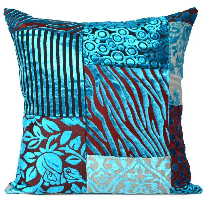 "Home Décor Floral Blue Pillow Case Throw Cushion Cover Couch Bed Décor 16X16/"""