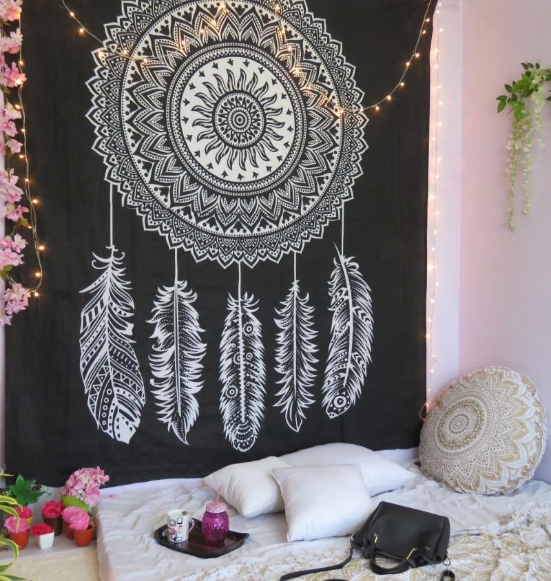 Hippie Lion Hanging Mandala Tapestry Blankets Bedspread Bedroom Wall Home Decors