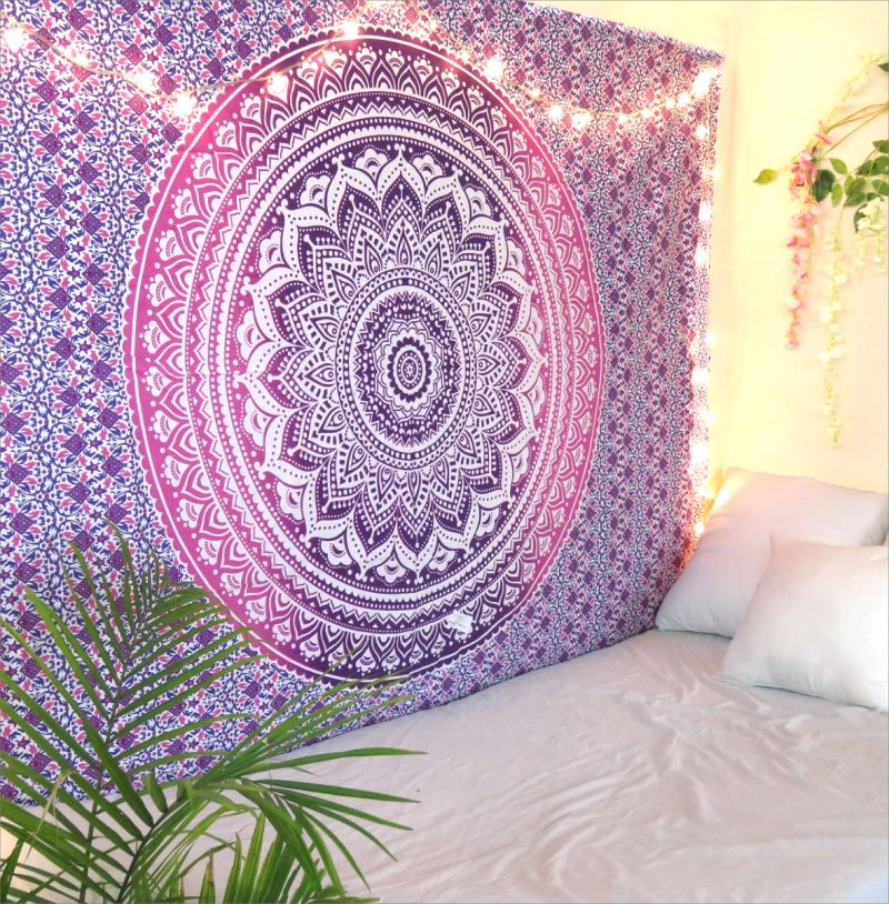 Purple Ombre Mandala Tapestry Decorative Dorm Room Wall Hanging Tapestry  Online c5118f2aa9