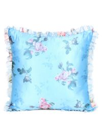 Floral Organza Satin Frills Cushion Covers for Room Decor
