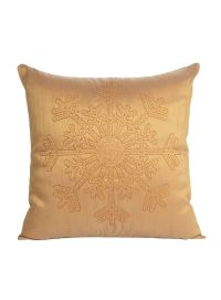 Decorative Solid Snowflake Pattern Cushion Cover Size 18
