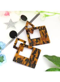 Brown Silver plated Designer Resin Earrings For Womens