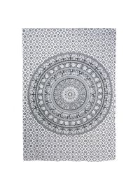 Black White Ombre Boho Mandala Tapestry Decorative Bohemian Dorm Room Wall Hanging Tapestry Online