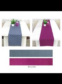 Handmade Reversible Art Silk Table Runner for Dining Table Pack of One