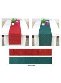 Decorative Art Silk Reversible Solid Table Runner Pack of One