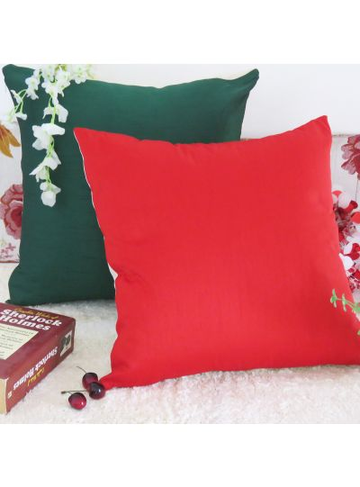 Decorative Reversible Solid Cushion Cover Throw Pillow Cases for Sofa Couch Decor Size 18x18