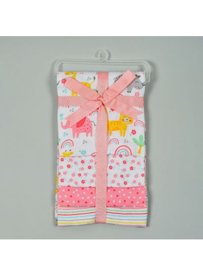 New Baby Born Cotton Receiving Blankets Pack of 4