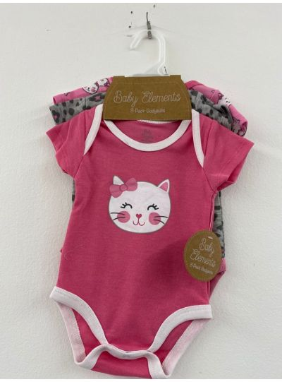 Baby Newborn Creepers Cotton Bodysuits Pack of 3
