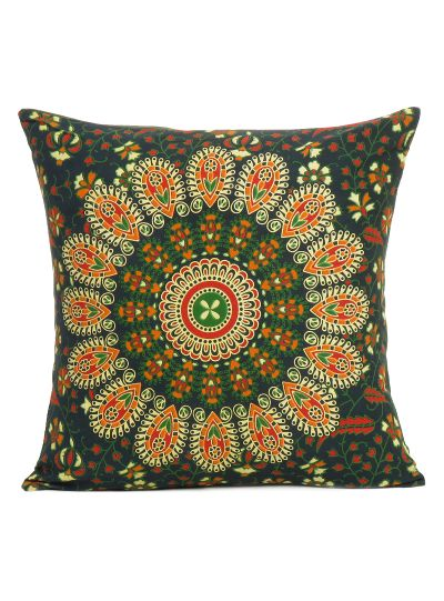 Ethnic Indian Mandala Print Cotton Decorative Cushion Cover Throw Pillow Case for Decor 16""