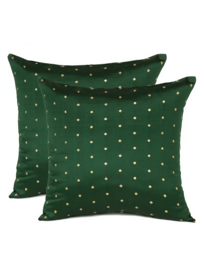 Decorative Art Silk Solid Cushion Covers Set of 2