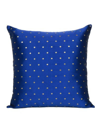 Royal Blue Art Silk Solid Hand Made Cushion Cover Home Decor 20