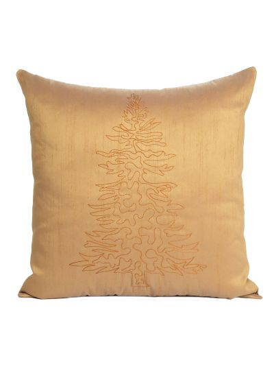 Decorative Solid Christmas Tree Pattern Cushion Cover Size 18