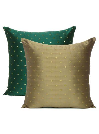 Art Silk Handmade Reversible Cushion Cover For Home Decor