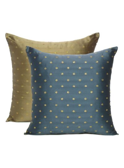 Art Silk Reversible Solid Handmade Cushion Cover For Home Decor