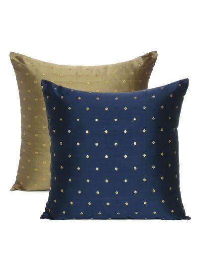Art Silk Reversible Handmade Cushion Cover For Home Decor