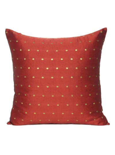 Art Silk Handmade Reversible Cushion Cover For home Decor Set of 2