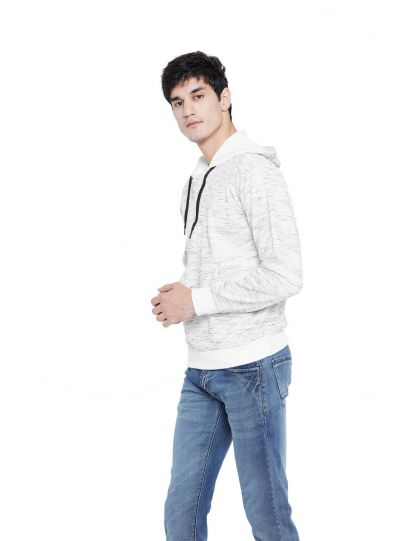 Men's Casual Form Fleece Hooded Pullover Sweatshirt Winter Wear