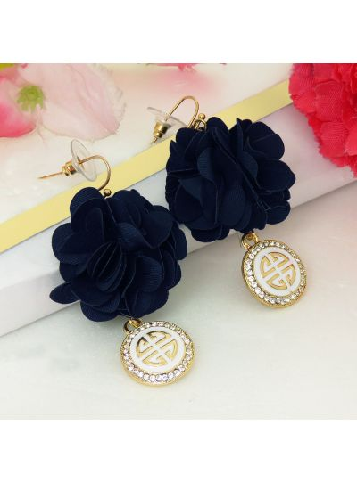 Stunning Flower Fabric Fashion Earrings For Womens