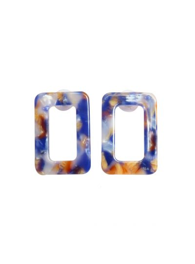 Stunning Turtoise Shell Square Resin Fashion Earrings For Womens