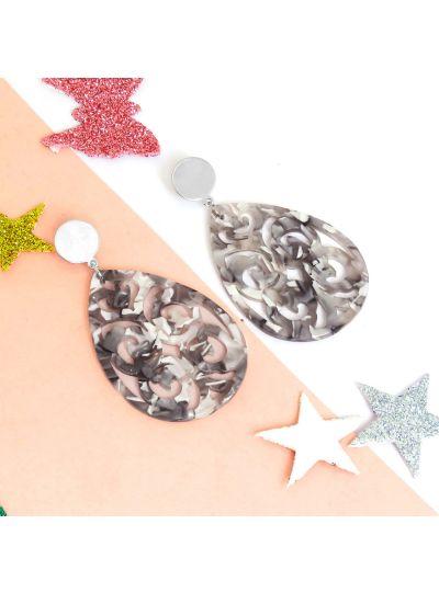 Designer Long Carved Resin Dangle Fashion Earrings For Womens