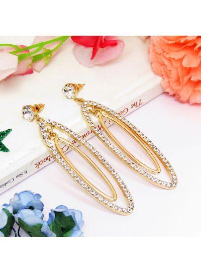 Crystal Diamond Long Dangle Earrings For Womens
