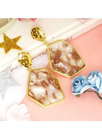 Turtoise Shell Geometric Resin Earrings For Womens
