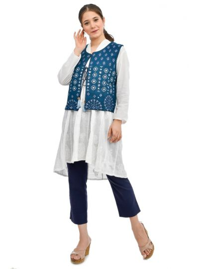 Indian Handmade Cotton Embroidered Jackets For Women Girls Fashion