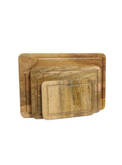 Handmade 3-Piece Cheese And Vegetables Wooden Cutting Boards Set