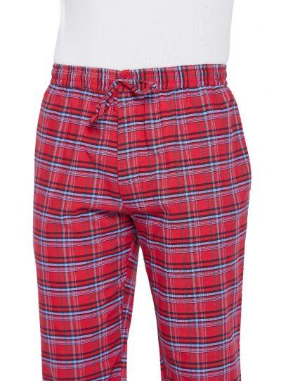 Men's Cotton Plaid Pattern Pajama Pants with 2 Pocket
