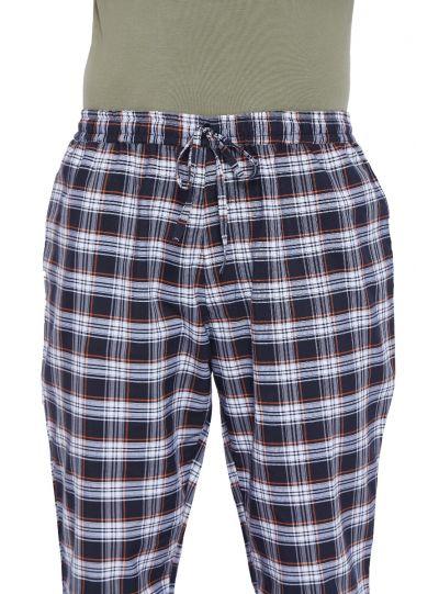 Men's Cotton Plaid Pattern Lounge Pajama Pants with 2 Pocket