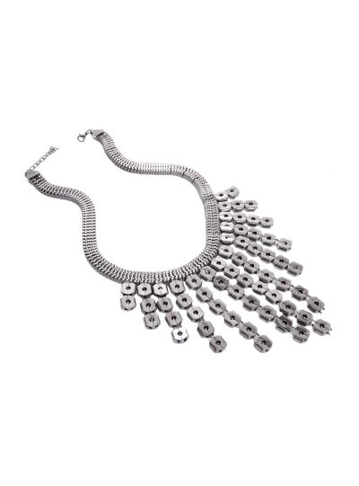 Silver Journey Choker Necklace for Women Statement Fashion Jewelry Online