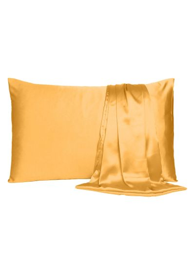 Oussum Satin King Size Solid Pillow Cover for Bedroom Decor, 20x40 Inches