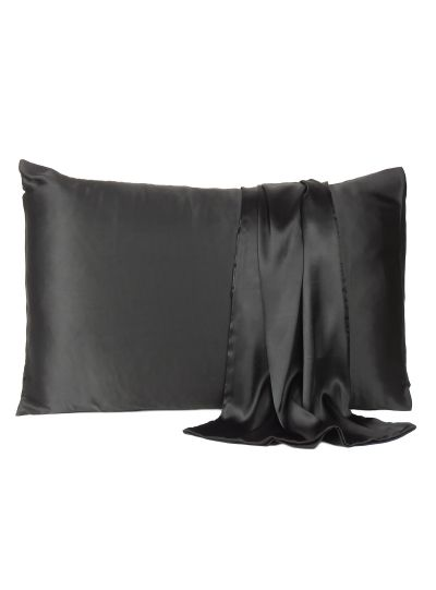 Oussum Solid King Size Satin Pillow Case for Bedroom Decor, 20x40 Inches