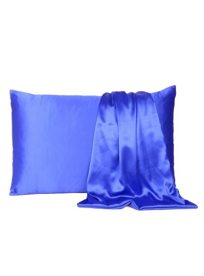 Handmade Satin Standard Size Solid Pillow Cover, 20X26 Inches