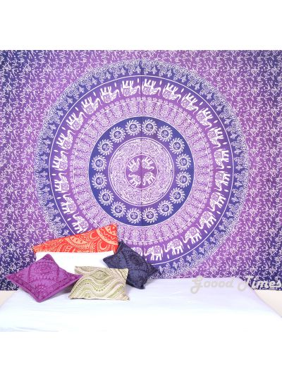 Elephant Mandala Boho Tapestry Queen Size Wall Hanging Online
