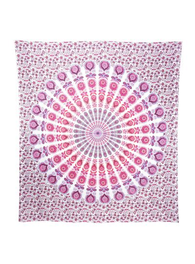 Mandala Tapestry Indian Hippie Wall Hanging Bohemian Queen Pink Peacock Throw Online
