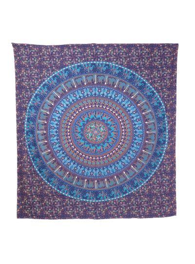 Elephant Camel Queen Wall Tapestry Blue Mandala Indian Hippie Hanging Decor Boho Online