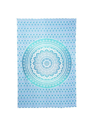 Hippie Boho Mandala Tapestry Ombre Indian Wall Hanging  Dorm Room Beach Picnic Throw Blanket Twin Size Bedspread