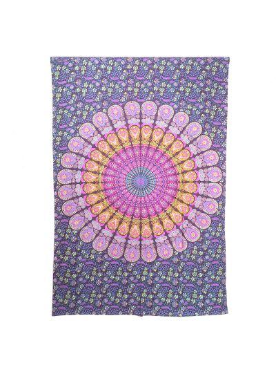 Hippie Boho Mandala Tapestry Ethnic Indian Wall Hanging Dorm Room Beach Picnic Throw Blanket Twin Size Bedspread