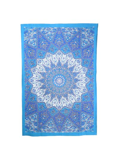 Blue Star Mandala Wall Hanging Tapestry Twin Size Beach Blanket Picnic Throw