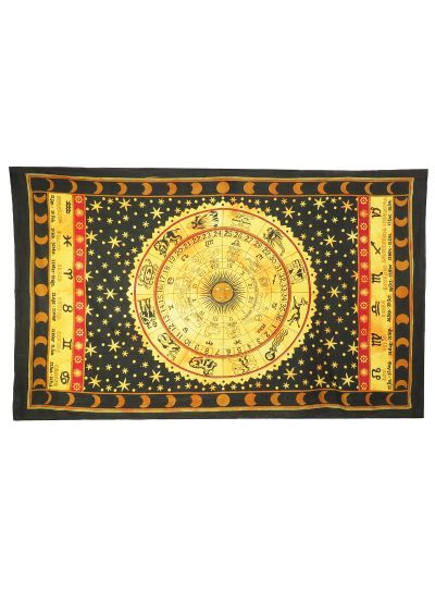 Cotton Zodiac Horoscope Tapestry Decorative Astrology Wall Hangings