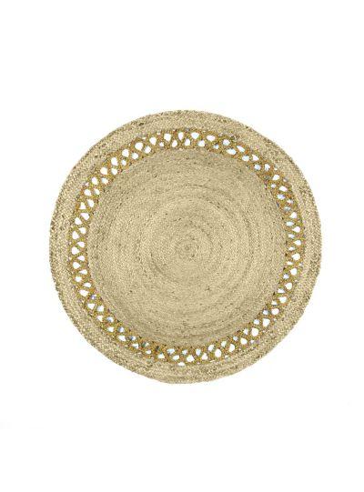 Hand Woven Braided Round Jute Floor Rugs