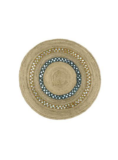 Oussum Hand Woven Round Reversible Jute Floor Rugs
