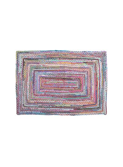 Hand Woven Jute Rectangle Braided Cotton Floor Rugs