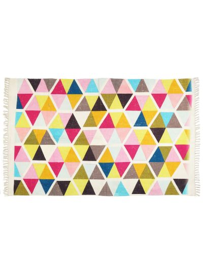 Hand woven Chindi Cotton Rectangle Floor Rugs