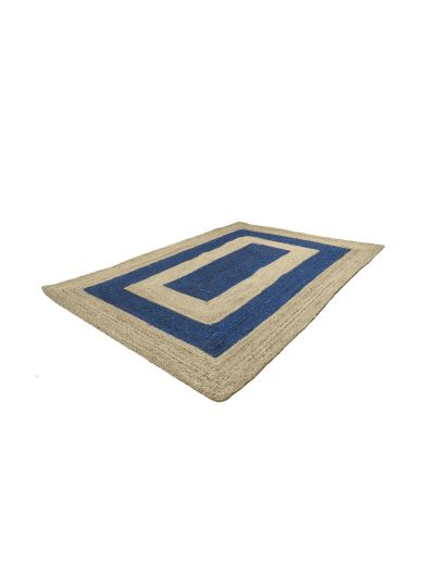 Oussum Natural Hand Woven Jute Rectangle Rugs for Home Decor