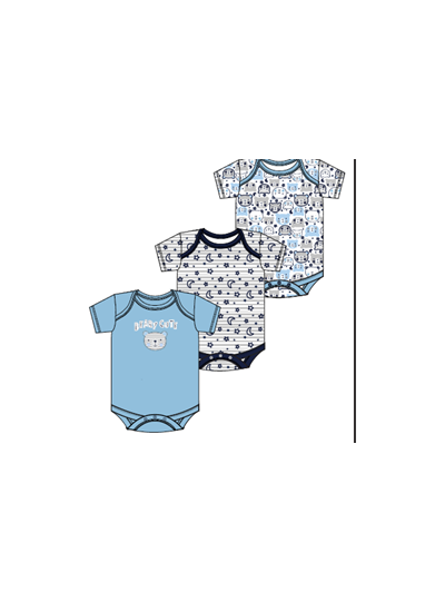 Baby Cotton Creepers Bodysuits Pack of 3