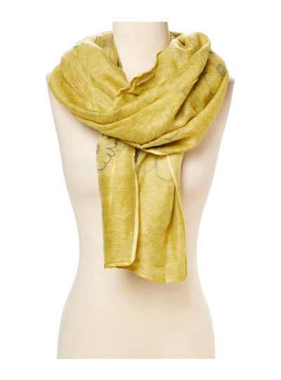 Soft Shimmer Viscose Neck Scarf for Women Winter Fashion Scarves