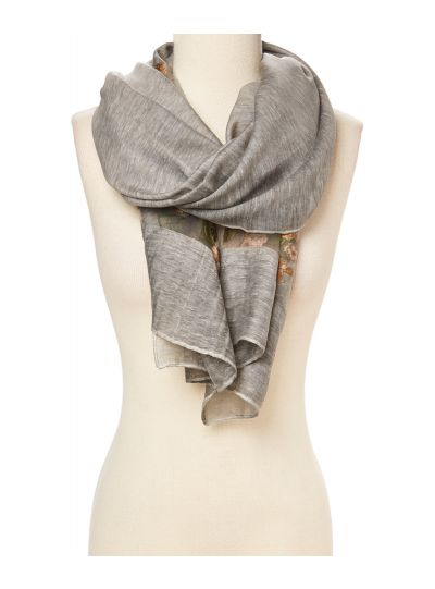 Lightweight Floral Embroidered Women Scarfs for Winter and Summer Fashion