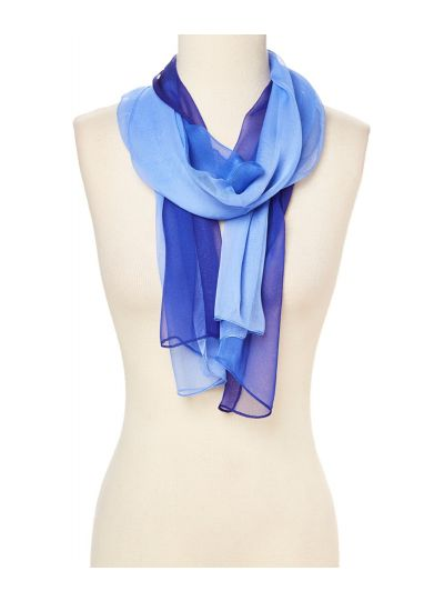 Lightweight Ombre Polyester and Silk Lightweight Summer Winter Scarves for Women